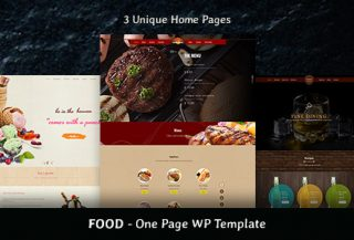 Food - Beverages, Restaurant & Food One Page Theme